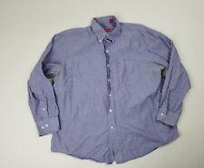 IZOD Mens Shirt Size XL Button Front Purple Long Sleeve