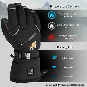 Heated Gloves Men & Women Battery Electric Heated Warm Motorcycle Ski Hiking