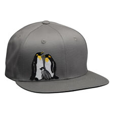 Penguin Snapback Hat by LET'S BE IRIE - Stone Gray