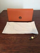 Tory Burch Sunglasses Case With Soft Pouch Orange Magnetic Closure
