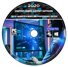 3d 2d Professional Graphics Design Animation Modellierung Support Software DVD + +