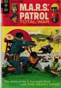 M.A.R.S. PATROL TOTAL WAR #7 1968 GRADED VG- SILVER AGE GOLD KEY COMICS