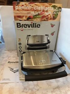 BREVILLE VST025 Cafe-Style Sandwich Press - Brushed Stainless Steel - Panini