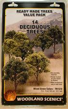 Woodland Scenics Tr1572 14 Deciduous Trees Value Pack Mixed Colors