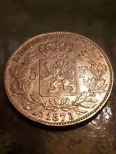 *** 5 Francs 1873 ARGENT BELGIQUE LEOPOLD II ***