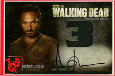 Autographe RICK The Walking Dead Saison 3 wardrobe signé signed Andrew Lincoln