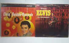 Elvis Presley Lp Vinyl Record Lot From Elvis To Memphis Rca Victor Golden Record