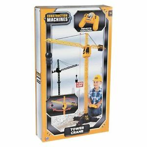 Construction Machines Remote Control Tower RC Crane Boys Kids Toy Birthday Gift