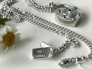 Coach 925 sterling silver padlock heart key necklace