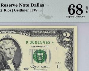 2009* $2 Dallas STAR Federal Reserve (KEY) FRN 1939-K* • PMG 68 EPQ TOP POP 7/0