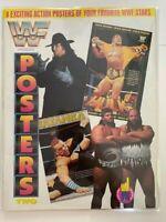 1992 WWF Presents 8 Posters Two #2 Undertaker Hulk Hogan Tatanka Earthquake WWE