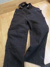 CARHARTT SANDSTONE DUCK QUILT LINED BIB OVERALLS PANTS MEN'S 48 X 30 R27 BROWN