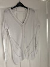 White Next Cotton Knitted Jumper Size 12 Used Summer