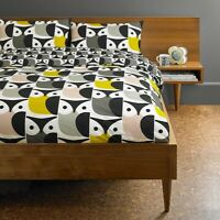 Orla Kiely Big Owl Duvet Cover 100% Cotton Bedding 200 Thread Count