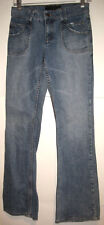 Juicy Couture Distressed FLARE Stretch Jeans Epic Boho w/No Rear Pockets 27x32