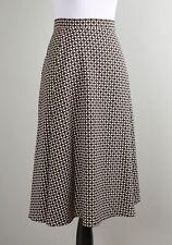 MAX MARA Weekend $295 Geo Tile Print Crepe Swing A-Line Midi Skirt Size US 8