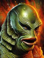Jason Edmiston Creature from the Black Lagoon Portrait Mondo Poster Print /175