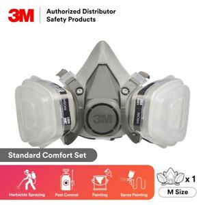 3M, 7 IN 1, 6300 Half Face Reusable Respirator For Spraying & Painting, LARGE