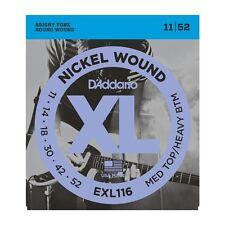 D'addario EXL116 Nickel Wound Electric Strings 11-52, Medium Top/Heavy Bottom