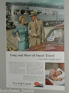1953 NEW YORK CENTRAL RR advertisement, Empire State, Roosevelt Observation car