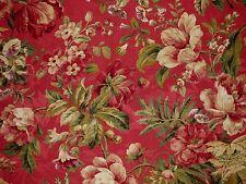 Mill Creek Raymond Waites EMERSON Floral VERMILLION Jacquard Drapery Fabric BTY