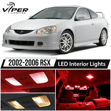 2002-2006 Acura RSX Red LED Interior Lights Package Kit