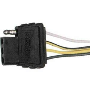 Wesbar 4' Wiring Harness with 4-Way Flat Car End #707275