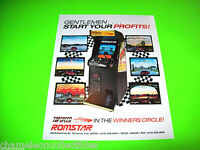 TOP SPEED By ROMSTAR 1987 ORIGINAL NOS VIDEO ARCADE GAME PROMO SALES FLYER