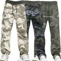Boys Kids Camouflage Elasticated Waist Pull On Jeans Age Years 10 11 12 13 14 15