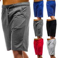 ❤️ Mens Casual Plain Shorts Fleece Jogger Gym Elasticated Waist Running Pockets