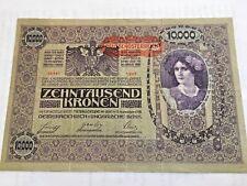 AUSTRIA HUNGARY 10000 KRONEN KORONA 1918   DEUTSCH ÖSTERREICH