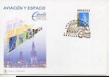 España Aviación y Espacio Sevilla Sobre entero postal año 1996 (DP-922)