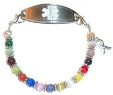 Cancer Awareness Women's Medical Alert Id Interchangeable Replacement Bracelet