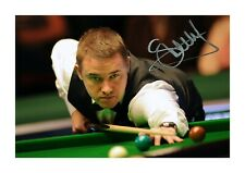 More details for stephen hendry a4 reproduction autograph photograph poster choice of frame