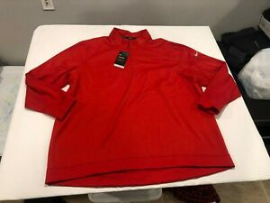 NWT $70.00 Nike Golf Mens Therma Repel 1/2 Zip Shirt Red Size 3XL
