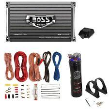 Boss AR1500M 1500W MONO Car Amplifier + Remote + 2.2 Farad Capacitor + Amp Kit