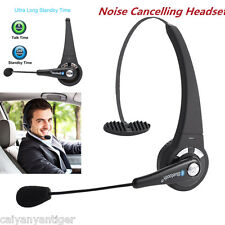Bluetooth Wireless Headset Headphone Noise Canceling With Mic For Trucker Driver
