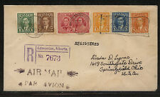 Canada  231-236  on  registered cover to US          MS0531