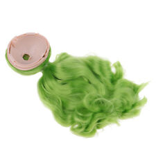 Trendy Wig Curly Hair with Scalp for 1/6 Blythe Doll Cosplay Accessory Green