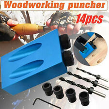 14Pcs Oblique Hole Locator Drill 15 Degree Angle Locator Bits Hole Jig Woodwork