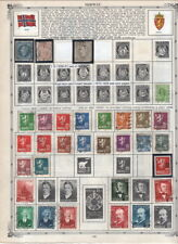 Large Norway On Album Pages 1856-1972 Many Modern MNH