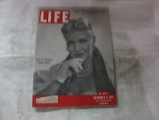 Life Magazine November 5th 1951 Ginger Rogers On Broadway Publisher Time   mg512