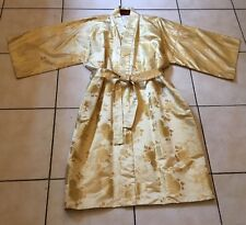 Vintage Nikko Palace Hotel Japanese Japan Silk Brocade Lame Bath Robe Kimono Fab