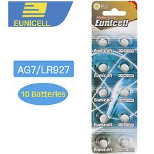 10 x  Alkaline coin Batteries AG7 LR927 399 L926 1.5V