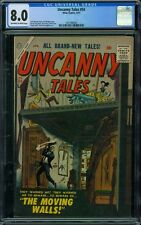 Uncanny Tales 54 CGC 8.0 - OW/W Pages