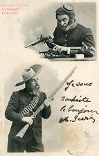 Fables de la Fontaine Le Serpent et la Lime Revolver Fusil Humour Carte Bergeret