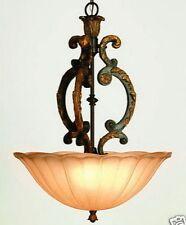Sculptured Hanging Pendant Entry Foyer Hall 3 Bulb Light Trans Globe Lighting