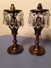 Pair Of Vintage Or Antique Boudoir Lamps Astral Style Mini Acorn Pulls
