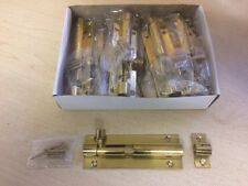 BARREL BOLTS - BOX OF TEN - BRASS FINISH