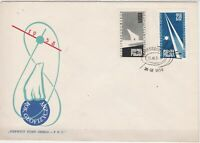 Polish 1958 Geophysical Year Polar Bear Warsaw Cancel FDC Stamps Cover ref 23020
